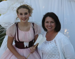 The tooth fairy and Dr. Hagen's dental assistant, Monica.